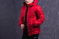 Мужская куртка зимняя Nike (красная)
