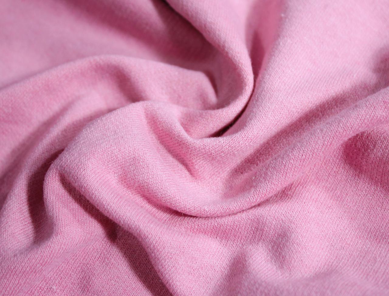 Футер двунитка с начесом розовая (220см, Турция)