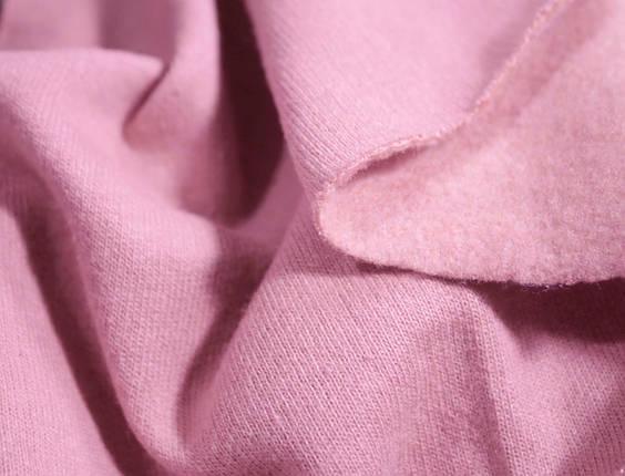 Футер двунитка с начесом розовая (220см, Турция), фото 2
