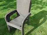 Меблі з ротангу LUIZA. Стіл 105 см + 4 крісла, фото 5
