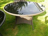 Меблі з ротангу LUIZA. Стіл 105 см + 4 крісла, фото 3