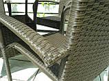 Меблі з ротангу LUIZA. Стіл 105 см + 4 крісла, фото 4