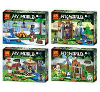 Конструктор Lele серия My World 33059 (аналог Lego Майнкрафт, Minecraft) 4 вида