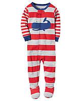 Теплая флисовоя пижама для мальчика на 4-5 лет 110 см.