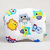 Подушка для младенцев  ортопедическая BabySoon Совы в наушниках 22 х 26 см (174)