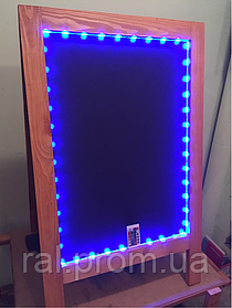 Штендер меловый с подсветкой двухсторонний, 100х60 см