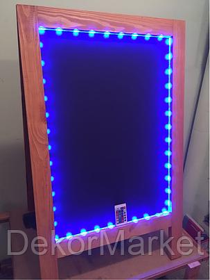 Штендер меловый с подсветкой двухсторонний, 100х60 см, фото 2