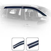 Дефлекторы окон Volvo XC70 2007-2010 С Хром Молдингом HIC V18-M