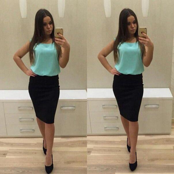"""Платье комбинированное юбка и блузка """"Вивьен"""" , распродажа!"""