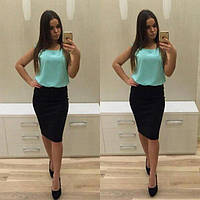 """Платье комбинированное юбка и блузка """"Вивьен"""" , распродажа!, фото 1"""