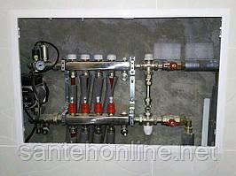 Встановлення колектора для теплої підлоги