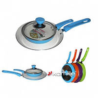 Набор сковорода блинная 22см и сковорода 14см с крышкой (керамическое покрытие)