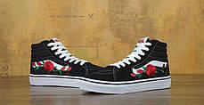 Мужские кеды Vans SK-8 Roses Black . ТОП Реплика ААА класса., фото 3