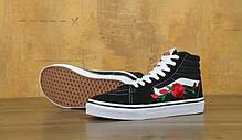 Мужские кеды Vans SK-8 Roses Black . ТОП Реплика ААА класса., фото 2