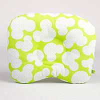 Подушка для новорожденных BabySoon Яркий Микки №2 размер 22 х 26 см цвет салатовый (188), фото 1