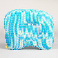 Подушка для новорожденных ортопедическая BabySoon Бирюзовые зигзаги 22 х 26 см (190), фото 1