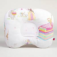 Подушка ортопедическая для новорожденных BabySoon Принцессы из сказок 22 х 26 см (191)
