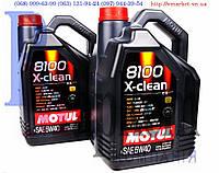 Масло двигателя MOTUL 5W40, 8100 X-clean C3 5L