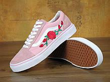 Женские кеды Vans Old Skool Roses Pink , фото 3