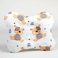 Детская ортопедическая подушка бабочка BabySoon Теди 22х26см с наполнителем высшего сорта цвет бежевый (П-300)