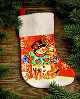 Новогодний носок для подарков 1778