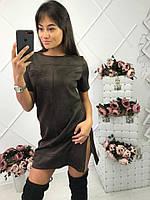 Осеннее замшевое платье (разные цвета)