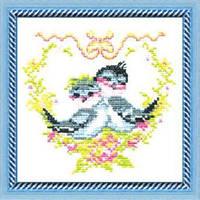 """Набор для вышивания крестом """"Влюбленные птички"""" №185 """"Чарівна Мить"""""""