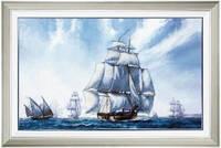 """Набор для вышивания крестом """"Корабли в море под чистым небом"""" РК-068 """"Чарівна Мить"""""""