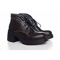 Женские ботинки на широком каблуке на молнии 5244