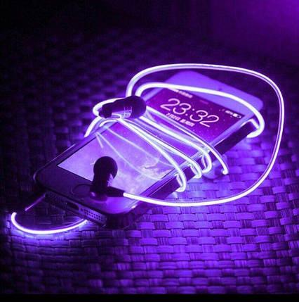 Светящиеся Неоновые наушники - гарнитура (4 цвета), фото 2