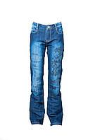 Стильные женские джинсы. Артикул: 676. Цвет: Темно-синий