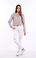 Стильные женские джинсы. Артикул: 17055. Цвет: Белый
