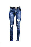 """Стильные женские рваные джинсы большие размеры """"VIVIAN"""". Артикул: A8615"""