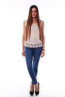 Светлые джинсы с высокой талией размер M, L. Артикул: UYKWZ012