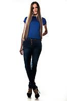 """Модные джинсы с высокой талией  """"Американка"""". Артикул: A302S"""