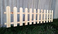 Штакетник деревянный садовый высотой 45 см