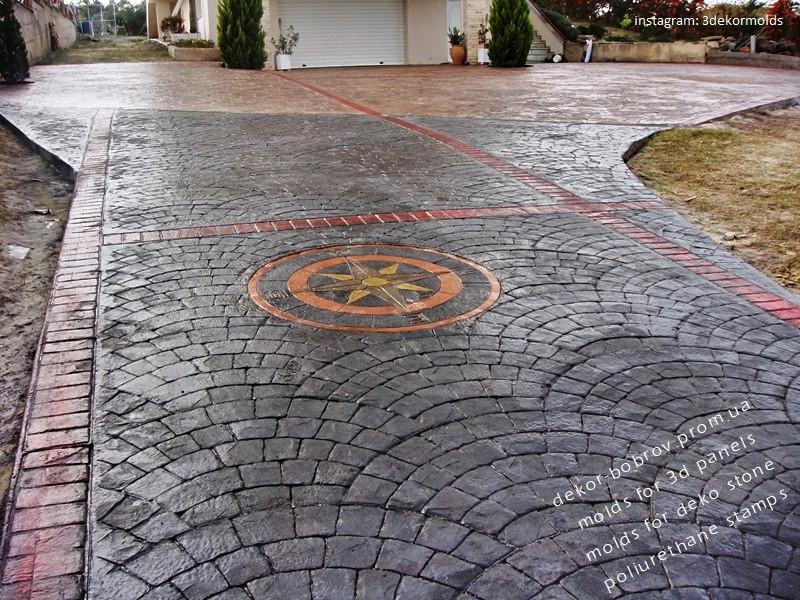 Технология декоративного бетона (топ-бетон, пресс-бетон, печатный бетон)