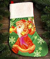 Рождественский носок для подарков большой 1777