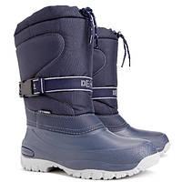 Зимние сноубутсы Demar Cross синие р.36-42 взрослым и детям (унисекс) не промокают, не продуваются