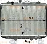 8MK376762-381 Радиатор охл. HYUNDAI  H100 автобус (P),  H100 фургон,