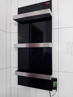 Установка стеклокерамического полотенцесушителя Dimol Standart 07TR