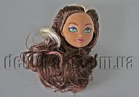 Голова коричневой куклы Монстер Хай с каштаново-белыми волосами 15,0 см