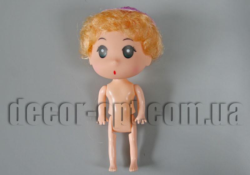 Кукла детская мальчик-пупс с русыми волосами в шляпе 12см