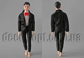 Одяг чорна з червоним метеликом на нареченого 30см (без шкури)