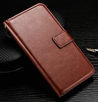 Кожаный чехол книжка для LG Optimus G2 D802 коричневый