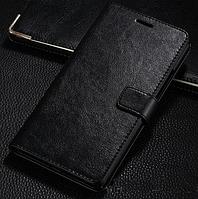 Кожаный чехол-книжка для Xiaomi Mi Max черный