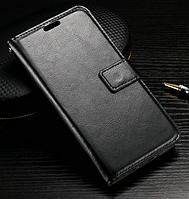 Кожаный чехол книжка для Lg K10 черный