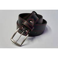 Ремень кожаный KHARCHUK Chrome TR1-40 130-140 см Черный