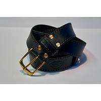 Ремень кожаный KHARCHUK Brass TR5-40 100 см Черный