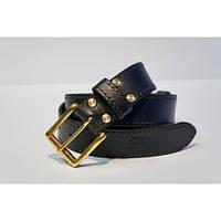 Ремень кожаный KHARCHUK Brass TR6-40 135 см Черный
